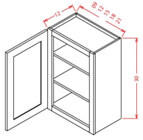 30 HEIGHT WALL CABINETS-1 Door