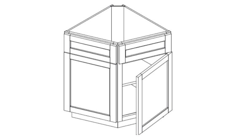 End Angled Base Cabinet