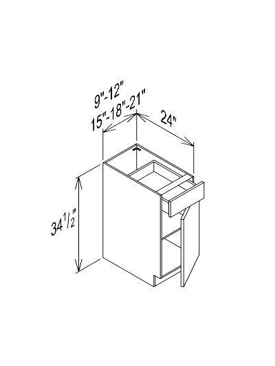 Single Door Single Drawer Base Cabinet