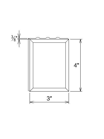 Plinth Block Applique Fluted Filler Block