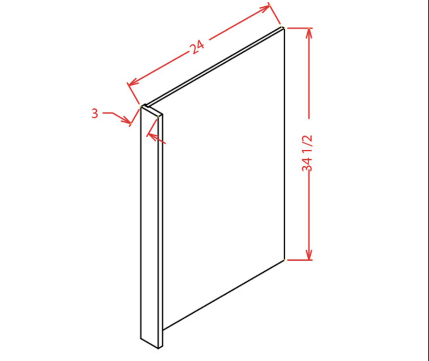 Panels - Dishwasher End