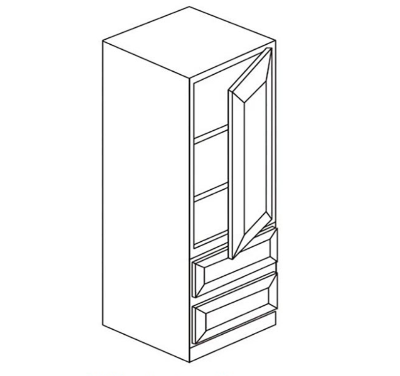 Vanity - Contertop Linen Cabinet