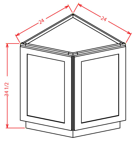 End Angled Base Cabinet