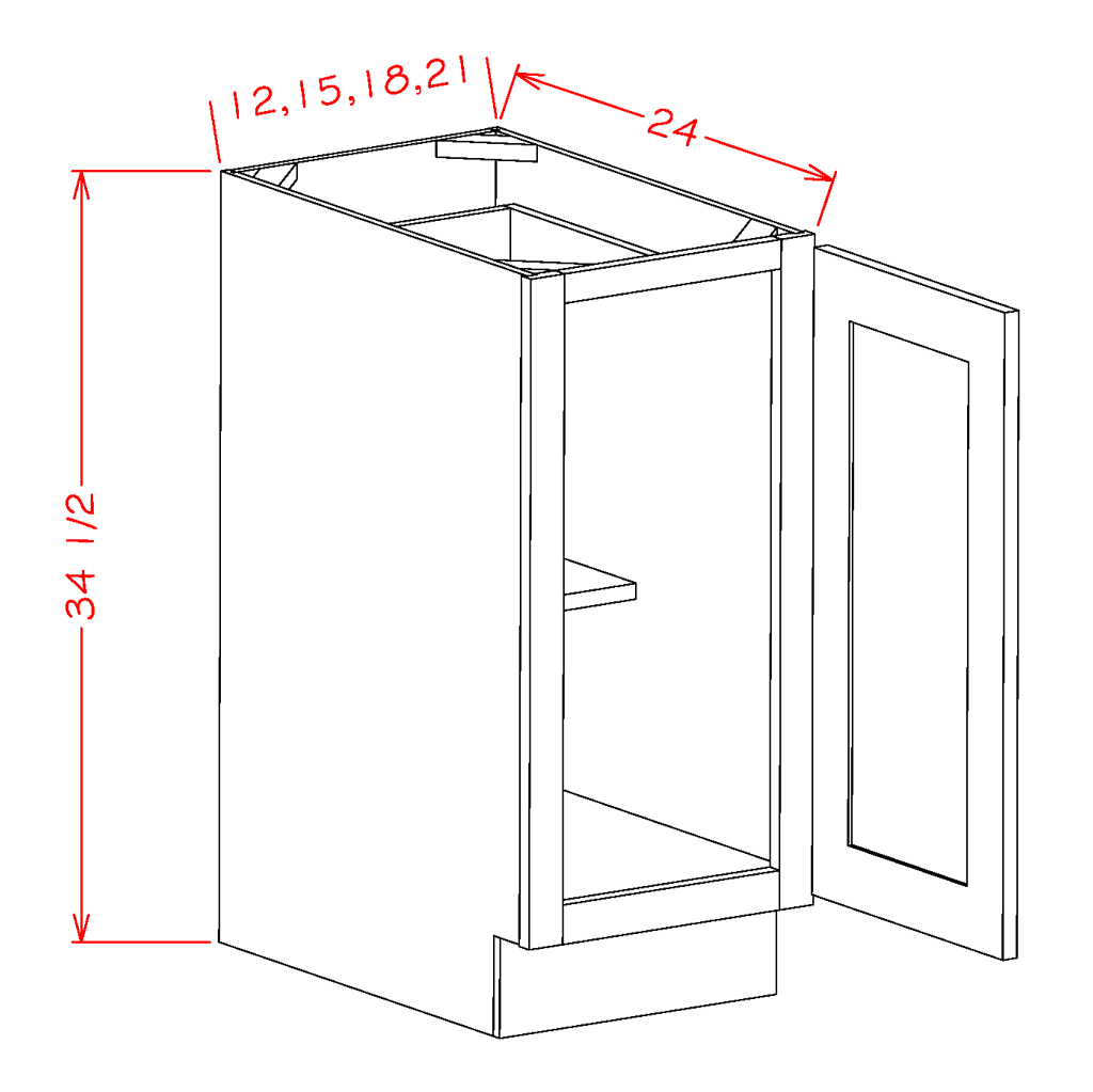 Single Full Height Door Bases