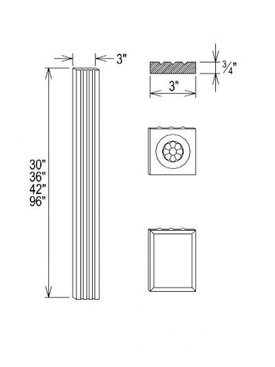 Rosette Wall Design Filler