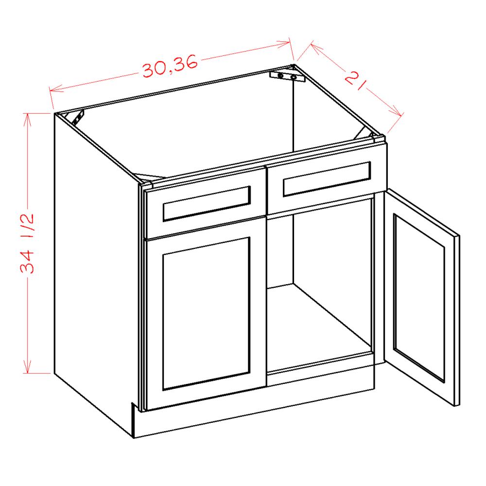 Double Door Double Drawer Front Vanity Sink Bases